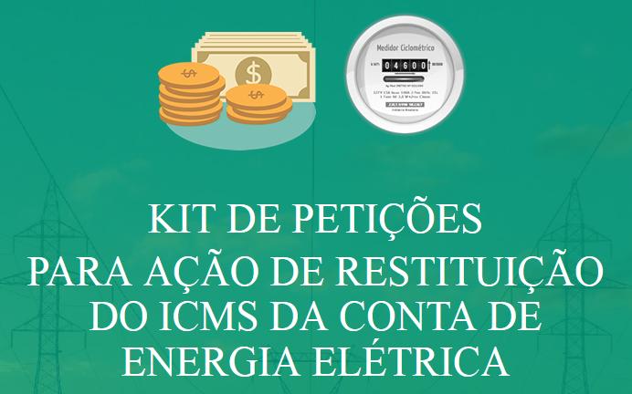 ação icms conta energia kit petições